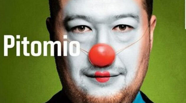 This image of Czech MP Tomio Okamura as the clown