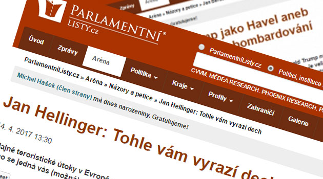 The Czech Online Tabloid Parlamentni Listy Published Two Fake News Items In Mid April