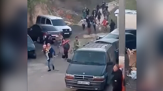 On 21 April 2018, neo-Nazis  in Ukraine attacked a camp and drove Romani children and their parents from the location. (PHOTO: YouTube.com)