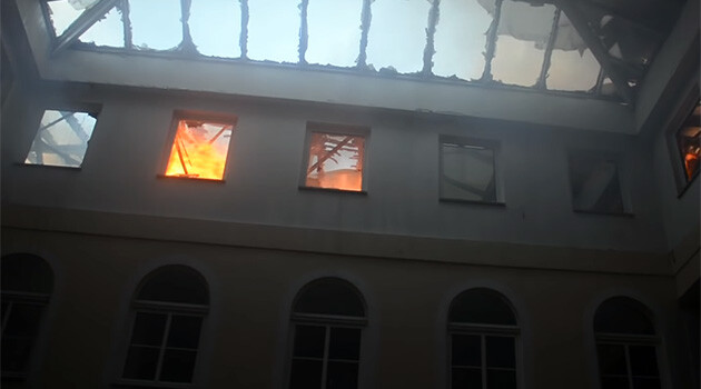 On Saturday, 17 November 2018 a fire broke out in the building where the directorate of the Roma Education Fund is headquartered in Budapest, Hungary, causing significant damages. (PHOTO:  YouTube.com)