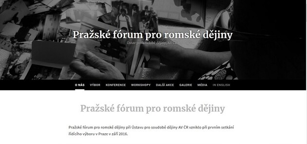The Czech-language website of the Prague Forum for Romani Histories was launched in May 2018.