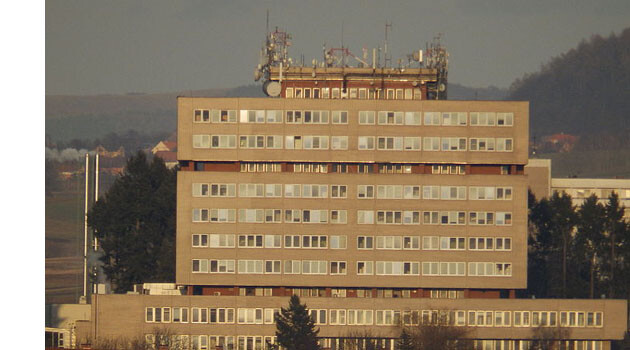 The hospital in Prešov, Slovakia, where Romani women have been experiencing discriminatory treatment in 2017.  (PHOTO: Wikimedia commons, Hemrock).