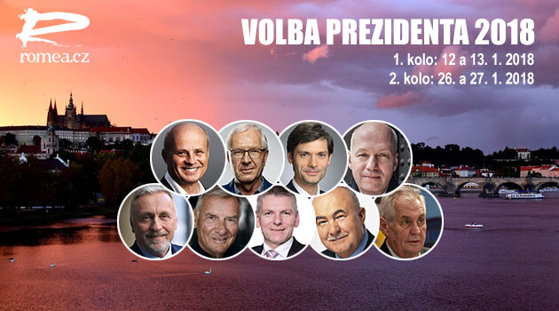 The first-round candidates in the Czech presidential election of 2018.