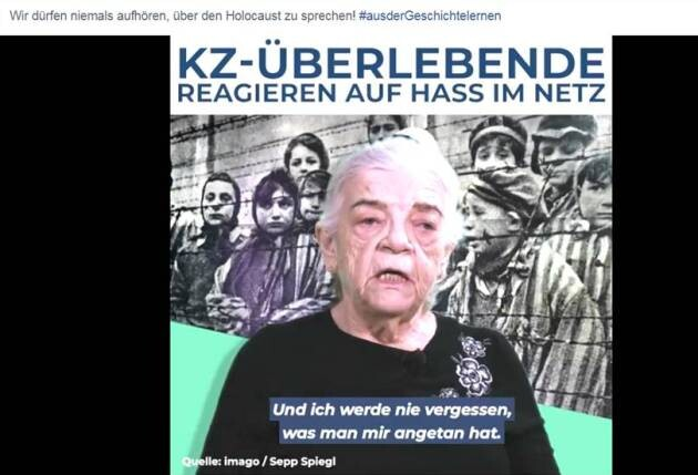 Three former prisoners of Nazi concentration camps have made a video in which they warn against the growing antisemitism that is being disseminated in Germany, mainly by social media (2019).