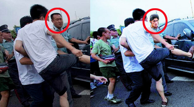 The Prostějov edition of the Evening News (Prostějovský večerník) downloaded photographs of Chinese sports fans committing violence from an Asian news server and used a digital photo editing program to superimpose a