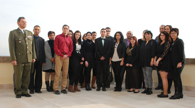 The Roma Education Fund scholarship recipients for 2015/2016 in the Czech Republic gathered in Prague on 11 December 2015. (PHOTO:  bau)