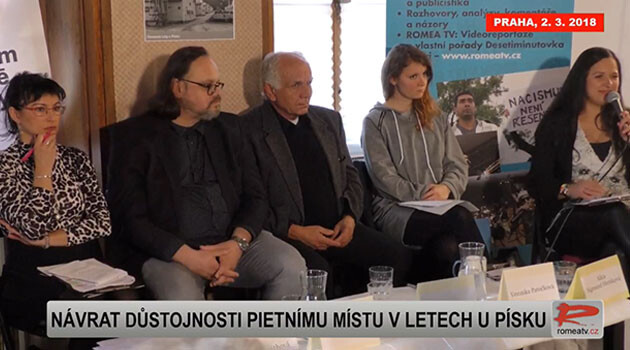 The Museum of Romani Culture and the ROMEA organization held a public discussion on 2 March 2018 about the possible future form and role of the Lety u Písku Memorial,