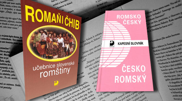 A Slovak-Romani textbook and Czech-Romani dictionary. Collage:  Romea.cz
