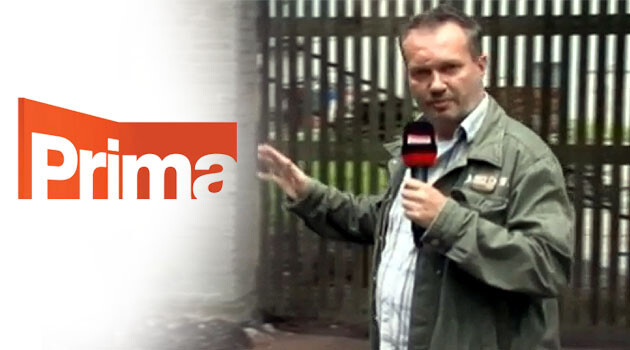 Bohumil Roub, the Prima TV reporter who has produced controversial pieces on refugees and Romani people in the Czech Republic. (PHOTO:  Prima TV).