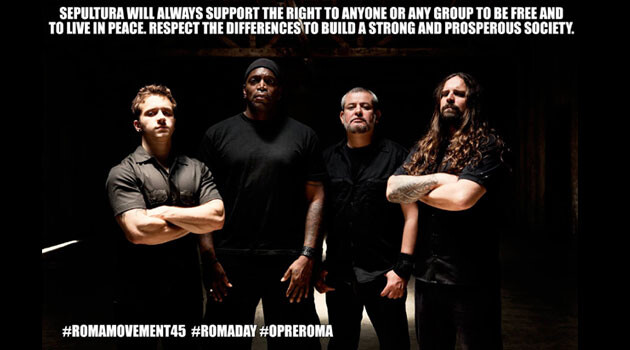 On International Romani Day, 8 April 2016, Sepultura, the legendary heavy metal group from Brazil, expressed support for Romani people on their official Facebook profile.
