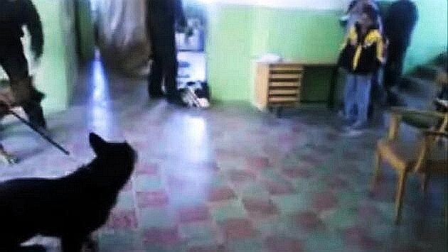 Harassment of Romani children by police officers in Košice, 2009. (Photo:  Print Screen from the video footage of the incident filmed by the officers themselves)