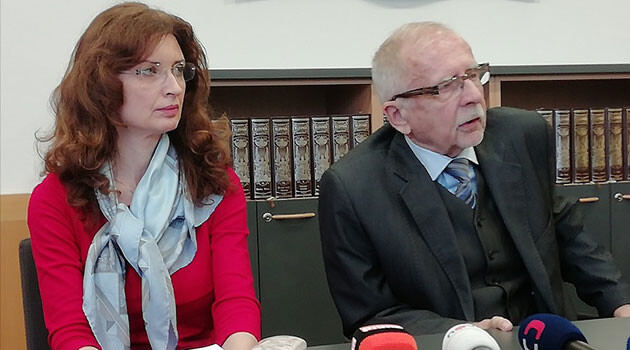 Monika Šimůnková, Deputy Public Defender of Rights (left) and Public Defender of Rights Stanislav Křeček (2020). (PHOTO: official Facebook page of the Public Defender of Rights)