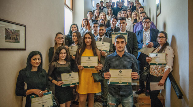 In Prague 60 Romani secondary school students gathered on 26 October 2016 at the Kaiserstein Palace to ceremonially be awarded scholarships from the ROMEA organization. (PHOTO:   Jan Mihaliček)