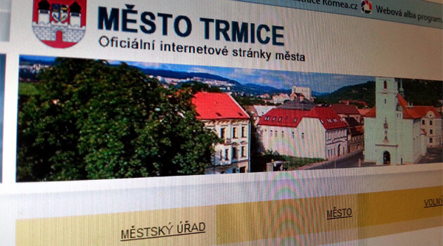 The website of the town of Trmice.
