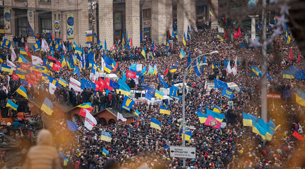 A demonstration in Kiev, Ukraine on 1 December 2013. (PHOTO:  Nessa Gnatoush, Wikimedia Commons)