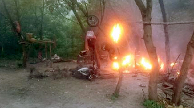 On Tuesday, 22 May 2018, approximately 12 assailants set a Romani camp on fire in the Ternopil region of western Ukraine. (PHOTO:   112.international)