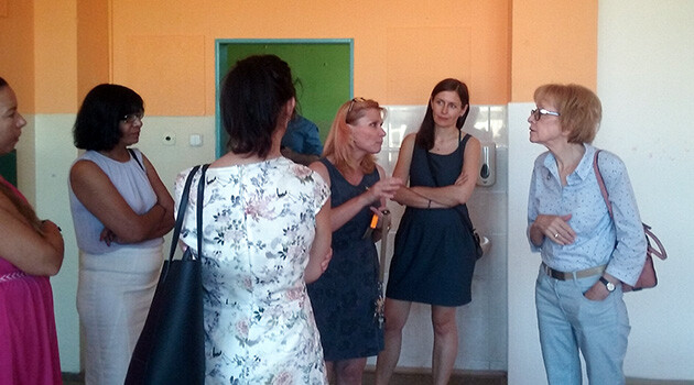 Czech Human Rights Commissioner Helena Válková (right) visited the city of Most on Wednesday, 24 July 2019 to discuss proposals for the future of the Chanov quarter there.  (PHOTO:  Olga Jeřábková, Communications and PR, Human Rights Section of the Office of the Government of the Czech Republic)