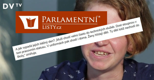 The Czech tabloid news server Parlamentní listy misquoted anthropologist Radka Vepřková in August 2016 as saying that Romani children in Varnsdorf