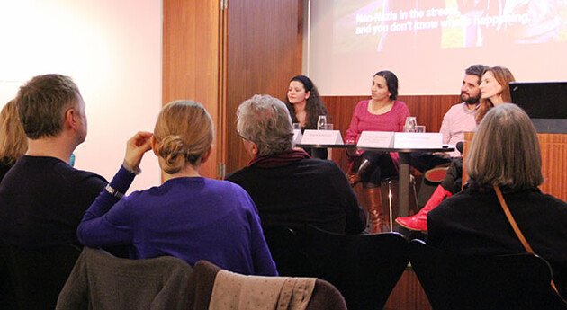 The public screening of documentary films by and about Romani people at a museum in Vienna on 10-11 March 2015. (Source:  ROMEA)