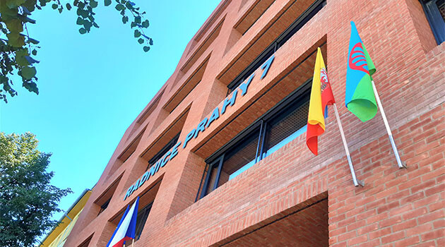 On 31 July 2020 the Prague 7 Municipal Department's town hall flew the Romani flag ahead of European Roma Holocaust Memorial Day, 2 August.