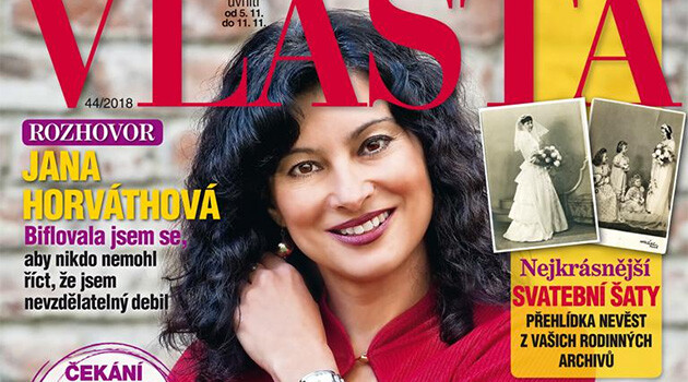 Jana Horváthová, director of the Museum of Romani Culture in the Czech Republic, on the front page of Vlasta magazine (issue 44/2018).