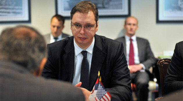Serbian President Aleksandar Vučić (photo taken in 2015, when he was Serbian Prime Minister). (PHOTO:  Leon E. Panetta, Flickr.com)
