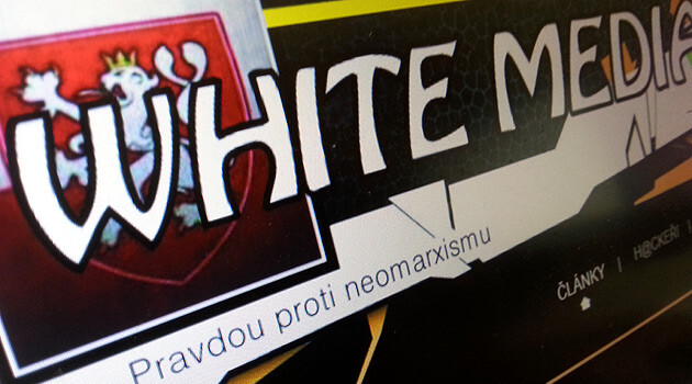 The Czech-language neo-Nazi website White Media. (PHOTO:  Romea.cz)