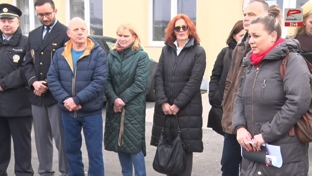 Vice-Mayor of Most, Markéta Stará, welcoming those participating in the Czech lower house committees' session at the Chanov housing estate in February 2019. (PHOTO:  ROMEA)