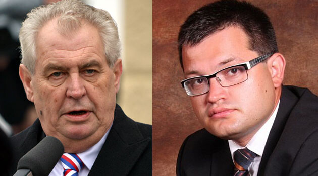 Czech President Miloš Zeman (left) and Czech Human Rights Minister Jan Chvojka (right), 2017. (COLLAGE:  Romea.cz)