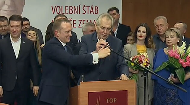 Miloš Zeman after winning the 2018 presidential election in the Czech Republic. (PHOTO:  Czech Television)