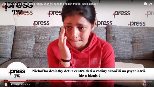 Slovak television channel TV Press has aired shocking testimony by 13-year-old Zuzana, including allegations of the abuse of psychiatric medication on children. (2019) (PHOTO:  TV Press)