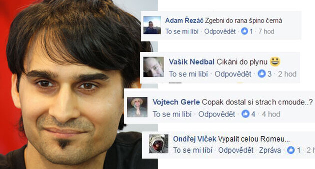 Fans of the xenophobic Ortel band sent death threats to Romani singer Radek Banga in 2016. (Collage:  Romea.cz)