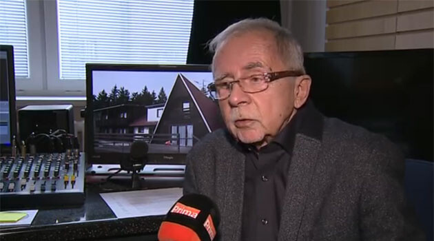 Stanislav Křeček in a report broadcast by the Prima TV station in February 2016 (PHOTO:  TV Prima).