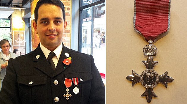 Petr Torák, a police officer of Romani origin from the Czech Republic, on 29 October 2015 shortly after he received his Member of the British Empire honor from the UK Home Office. (PHOTO:  Jiří Hošek)