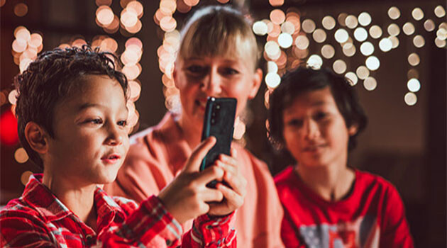 A still from the Vodafone Christmas advertising campaign in 2020 in the Czech Republic. (PHOTO:  Vodafone)
